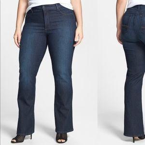 NYDJ Barbara Embellished Pocket Bootcut Jeans